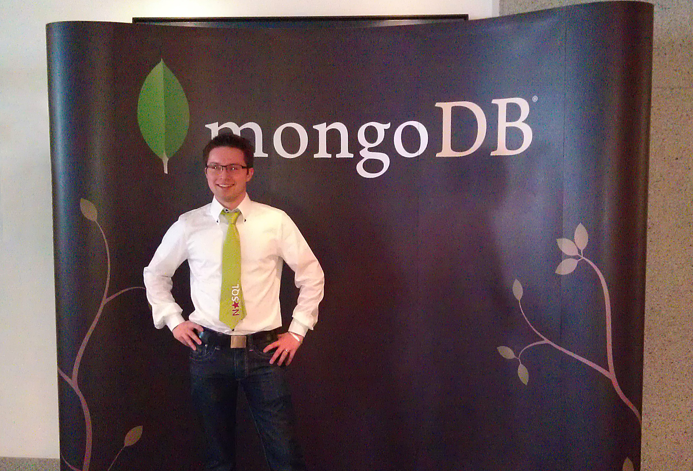 Johannes at MongoDB Berlin 2012